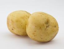Pommes de terre sur le blanc Image libre de droits