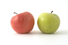 pommes deux Photo libre de droits