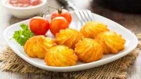 Pommes duchesse - potato croquettes Stock Photography