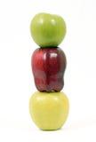 Pommes empilées sur l'un l'autre Photo libre de droits
