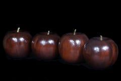 Pommes en bois Photos stock