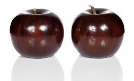 Pommes en bois rouges Photo libre de droits