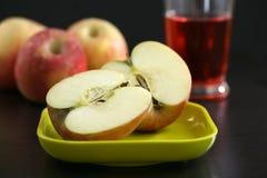 Pommes et cidre Image libre de droits