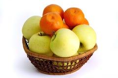 Pommes et clémentines Photo libre de droits
