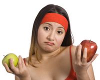 Pommes et dame Photo libre de droits