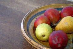 Pommes et de poire toujours impressionisme de la vie Images libres de droits