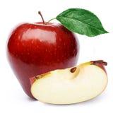 Pommes et demi rouges Images stock