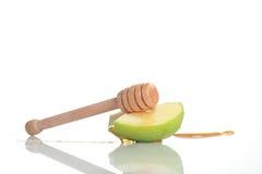 Pommes et miel Image libre de droits