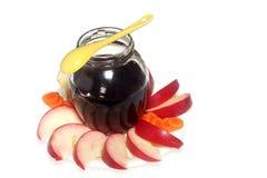 Pommes et miel Images libres de droits
