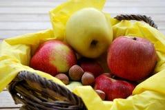 Pommes et noix Photo libre de droits