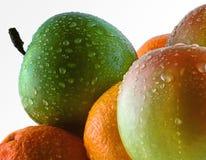 Pommes et oranges Photos libres de droits