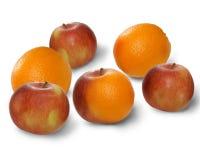 Pommes et oranges de mélange Image libre de droits