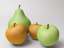 Pommes et poire illustration libre de droits