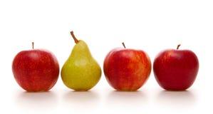 Pommes et poire Photo libre de droits