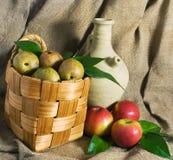 Pommes et poires Photos stock
