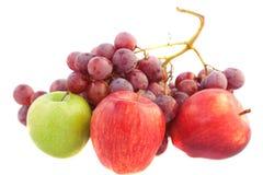 Pommes et raisins Photos libres de droits