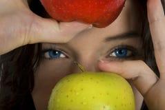 Pommes et yeux Photographie stock