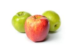 Pommes fraîches d'isolement sur le blanc photo libre de droits