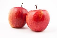 Pommes fraîches d'isolement sur le fond blanc Photographie stock libre de droits