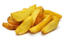 Pommes-Frites auf dem weißen Hintergrund Stockfotografie