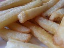 Pommes-Frites auf Platte Stockbild