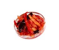Pommes frites avec le ketchup de tomate Images stock
