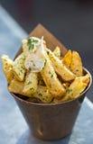 Pommes frites d'ail photos libres de droits