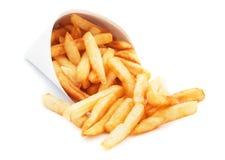 Pommes frites d'isolement sur le blanc photo stock