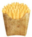 Pommes frites dans l'empaquetage de pomme de terre Image libre de droits