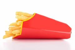 Pommes frites dans le sac de papier Photo libre de droits