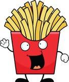 Pommes frites de bande dessinée heureuses illustration de vecteur
