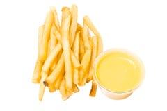 Pommes frites et fromage Photographie stock libre de droits