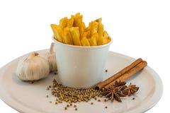 Pommes frites et heab Image libre de droits
