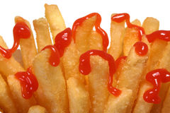 Pommes frites et ketchup Photo stock