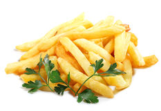 Pommes-Frites (Fischrogen) Stockfotos