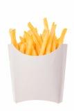 Pommes frites i ett pappers- omslag Royaltyfri Bild