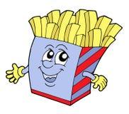 pommes frites ilustracyjni położenie Fotografia Royalty Free