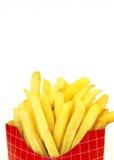 Pommes-Frites im Kasten lizenzfreies stockbild