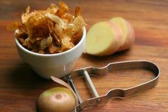 Pommes frites ; l'espace large de vue et de disposition Images libres de droits