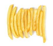 Pommes-Frites lokalisiert auf dem weißen Hintergrund Lizenzfreie Stockfotos
