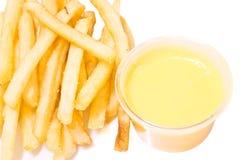 Pommes frites och ost Arkivbilder