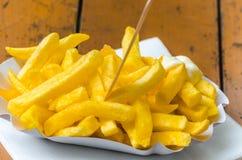 Pommes frites, pommes frites, bravas de patatas, Images stock