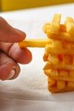 Pommes-Frites schließen oben Stockfoto