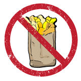Pommes-Frites verboten Lizenzfreie Stockbilder