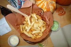 Pommes friteskorg Royaltyfri Bild