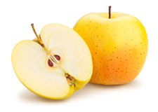 Pommes golden delicious Photos stock