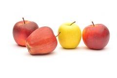 Pommes jaunes et rouges Photo libre de droits