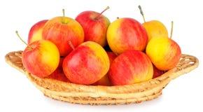 Pommes mûres dans le paraboloïde en osier Image libre de droits
