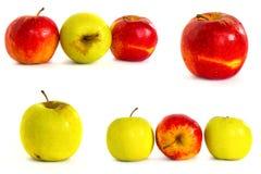 Pommes mûres sur un fond blanc, isolat, pommes sur le fond d'isolement Images stock