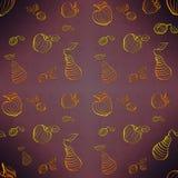 Pommes, poires et prunes - papier peint sans couture Image stock
